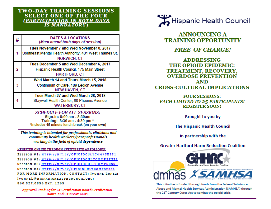 Training: Addressing the Opioid Epidemic - Treatment, Recovery ...